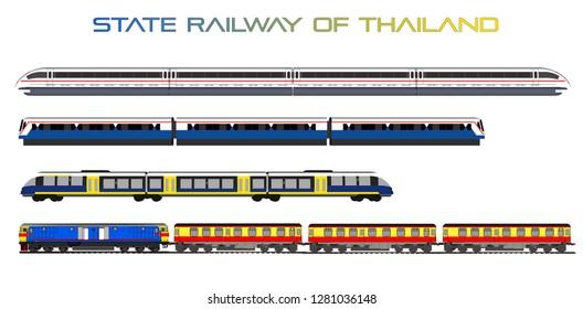 Vector train pattern in Thailand