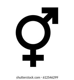 Vector transgender symbol