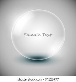 Vector transparency ball (soap bubble)