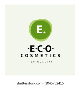Vector transparent beauty, eco cosmetics and healthy treatment symbols in green colors isolated on white background. Perfect for cosmetic, skin products and health care fashion insignia.