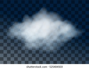 Vector transparent cloud