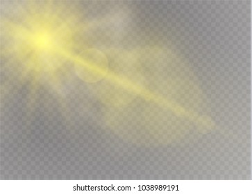Vector transparent sunlight special lens flare light effect.clouds.