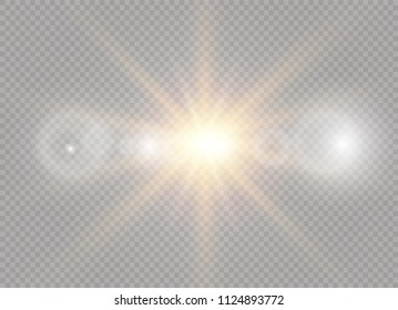 Vector transparent sunlight special lens flare light effect. Sun flash.