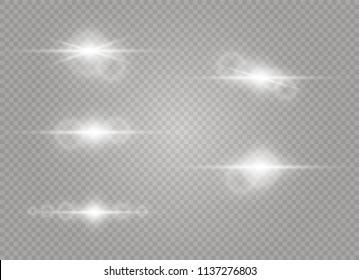 Vector transparent sunlight special lens flare light effect. Sun flash