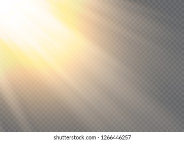 Vector transparent sunlight special lens flare light effect.