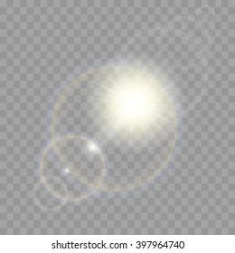 Vector transparent sunlight special lens