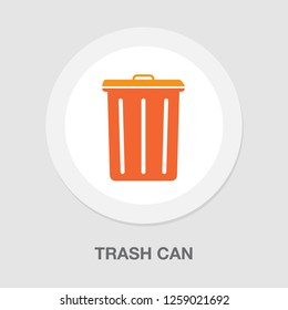 vector trash can, recycle bin icon - garbage illustration
