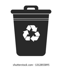 Vector trash icon on white background