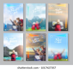 Vector travel brochure layout template idea concept design in A4 size