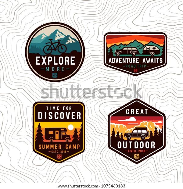 Vector  travel color patch set.