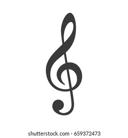 Vector Treble Clef music note icon