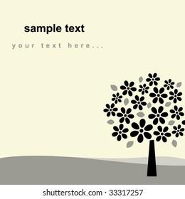 vector tree background design