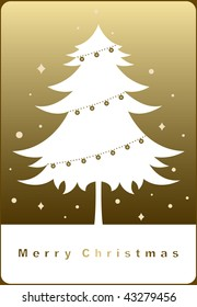 vector tree of christmas background design