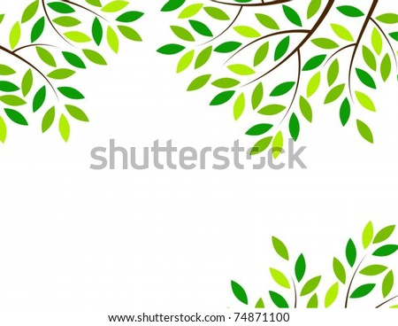 Vector Tree Frame Stock Vector (Royalty Free) 74871100 - Shutterstock