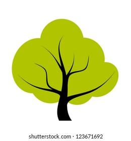 Vector tree illustration