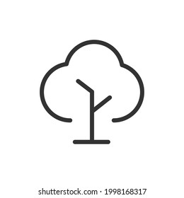 Vector tree line icon. Symbol in trendy outline style. Vector illustration isolated on a white background.
