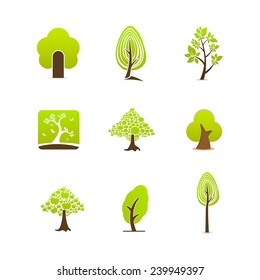 Vector tree logo icon