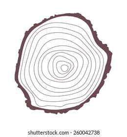 vector tree rings icon on a white background