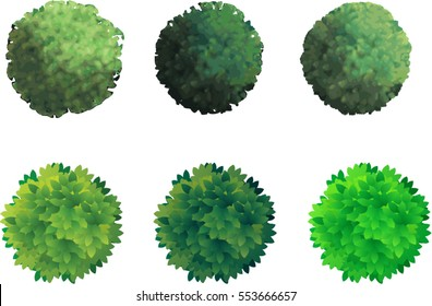 vector trees/trees from above/architect trees from above ideal for site maps