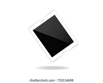 vector trendy flat tablet