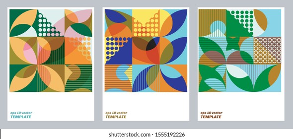 Vector trendy geometric combination web page background