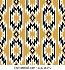 Vector trendy seamless decorative ethnic pattern. Boho geometric style.