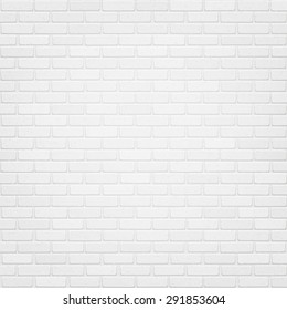 Vector trendy white brick wall background. High quality design element.