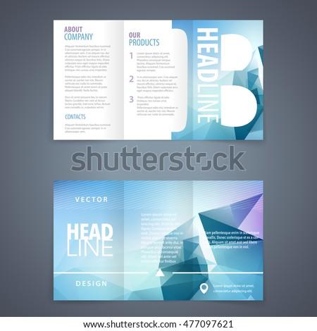 Vector Tri Fold Brochure Flyer Template Stock Vector Royalty Free