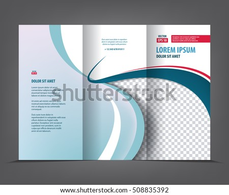 vector tri fold brochure template design stock vector royalty free