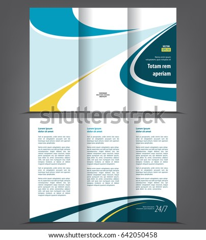 vector tri fold brochure template design のベクター画像素材