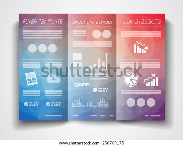 Vector Tri Fold Brochure Template Design Stock Vector