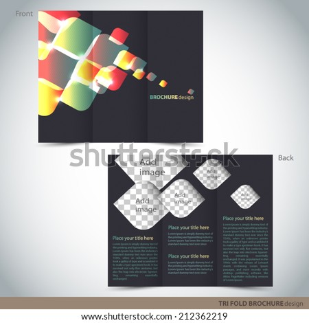 vector tri folder brochure leaflet mock stock vector royalty free