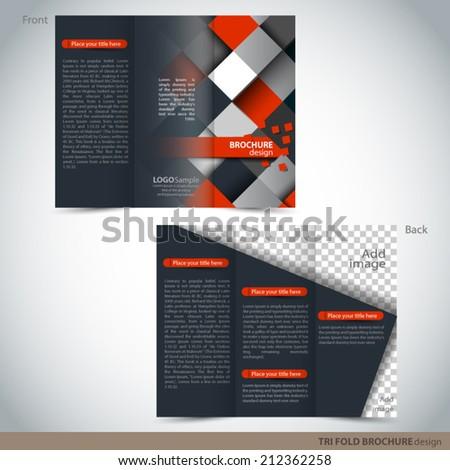 vector tri folder brochure leaflet mock stock vector royalty free