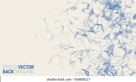 Vector triangle geometric vector background for your design