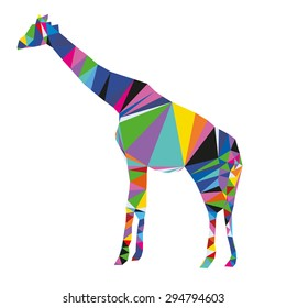 Vector triangle giraffe