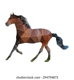 Vector triangle horse