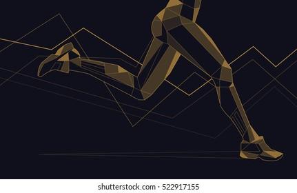 Vector triangles, lines, runner