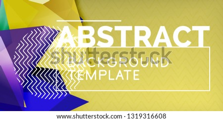 Vector Triangular 3 D Geometric Shapes Background Stock