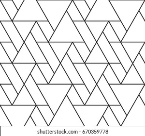 Vector triangular pattern background with seamless grid line texture.