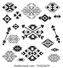 Vector Tribal Design Elements. Geometric Design. Can be used for textile, backgrounds, web, wrapping paper, package etc.
