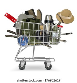 Vector Trolley with Fish-tackle
