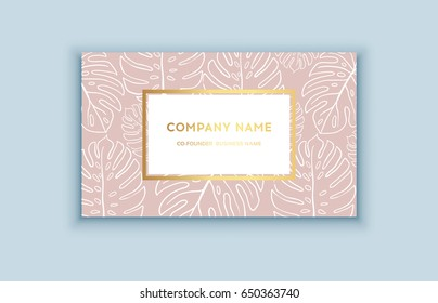 Tropical background for business cards images stock photos vector tropical pink and gold business card exotic design for cosmetics spa perfume colourmoves