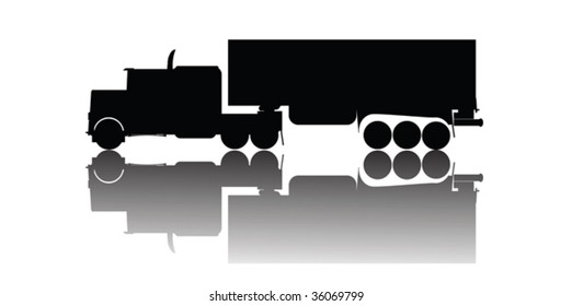 Vector truck silhouette