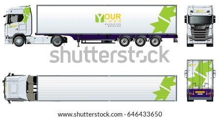 Truck Template | Vector Truck Template Brand Identity Isolated Stock Vektorgrafik