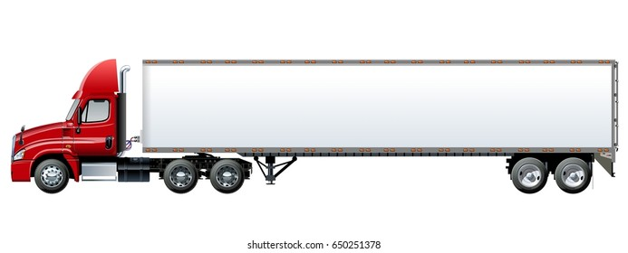 Tractor Trailer Truck Images, Stock Photos & Vectors