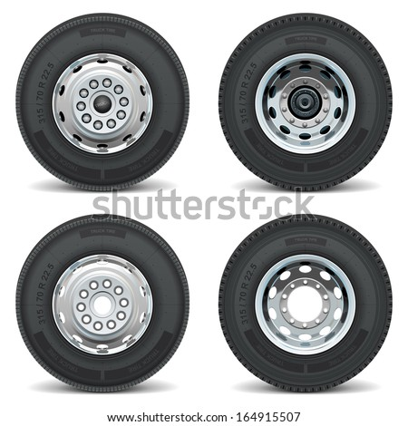 vector truck tire icons stock vector royalty free 164915507