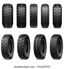 Vector Truck and Tractor Tires