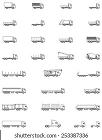 Vector trucks icon set