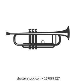 Vector trumpet isolated on a white background