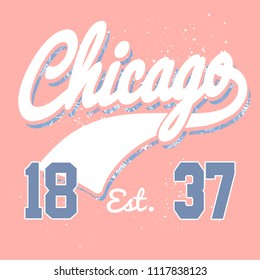 Vector t-shirt design for Chicago, IL